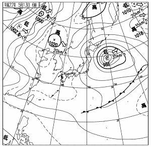 天気図 10051306
