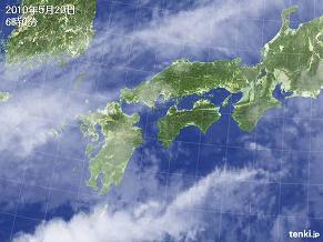 気象衛星 西日本 2010年5月20日 6時