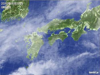 気象衛星 西日本 2010年5月20日 8時