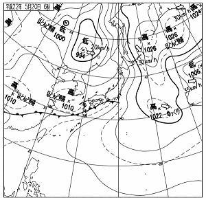 天気図 10052006