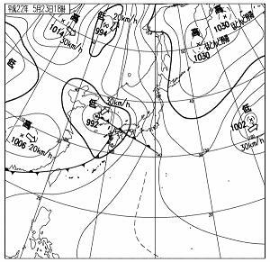 天気図 10052318