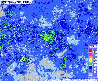 気象レーダー 201005231900-00