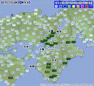 雨量 201005231800-00