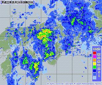 気象レーダー 201005240820-00