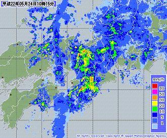 気象レーダー 201005241015-00
