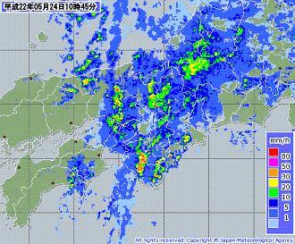 気象レーダー 201005241045-00