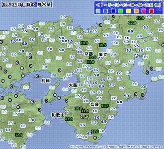雨量 201005241100-00