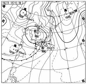 天気図 10052409