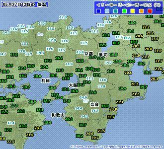 近畿気温 201005271300-00