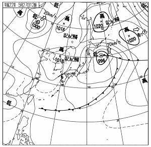 天気図 10052712