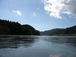 河口直前熊野川