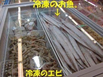 スーパー・冷凍魚。