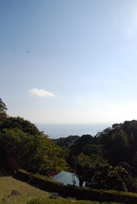 海が見えます