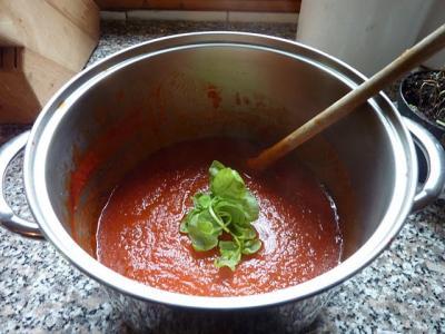 トマトソース 出来上がり