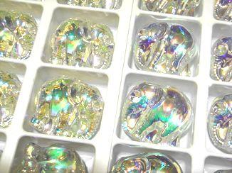 Art.67754 Crystal AB+Glacier Blue Elephant 30mm