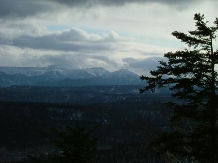 夕闇の大雪山