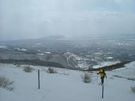 七飯岳直下のゲレンデ