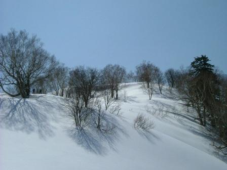 山頂直下快適斜面