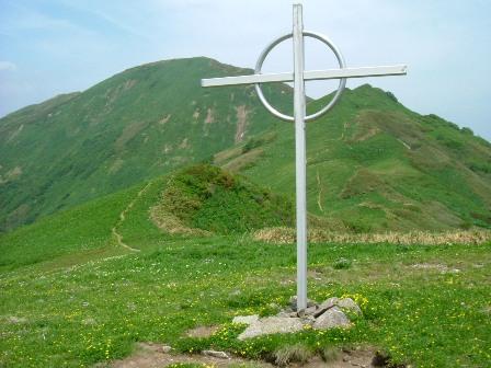 十字架と大千軒岳