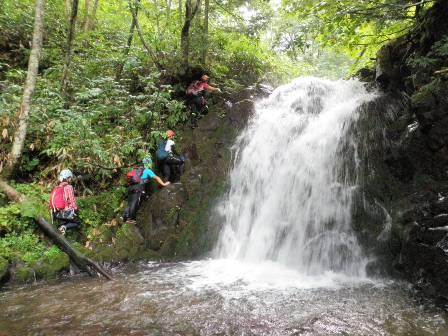下流部10mの滝
