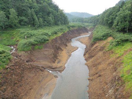 豊平川本流と狭薄川