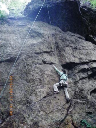 えぼし岩リンガム1P(5.11a)