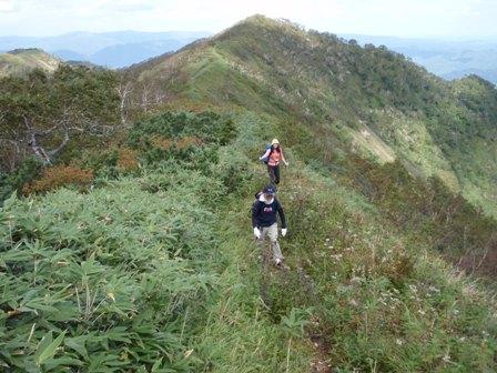 ウエンシリ岳を登る