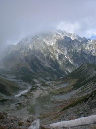 別山からの剣岳