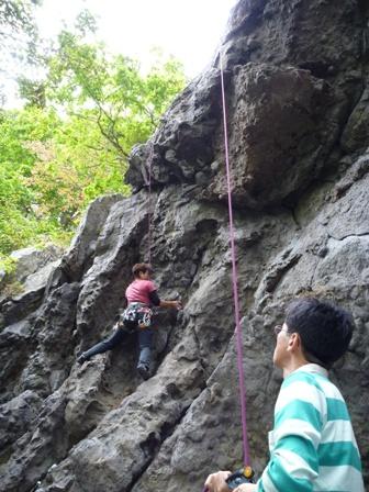 スカイハイを登るお勝姉さま