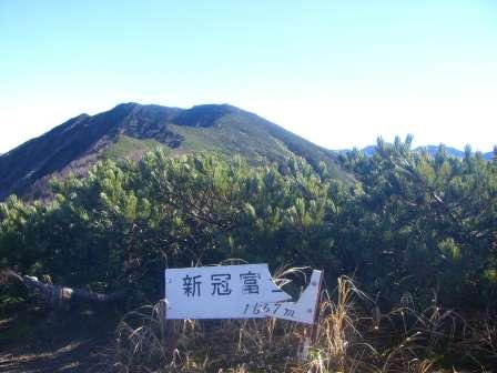 新冠富士山頂より