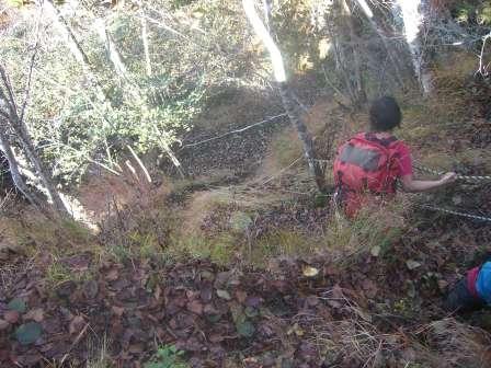 下山第二の岩場
