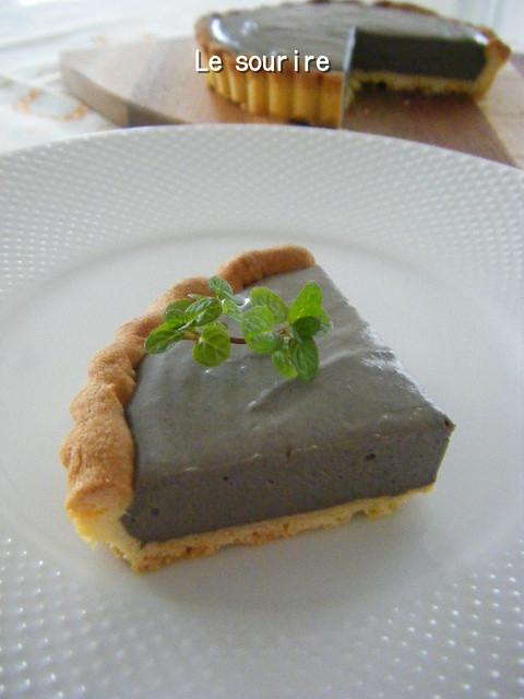 黒ゴマチーズタルト