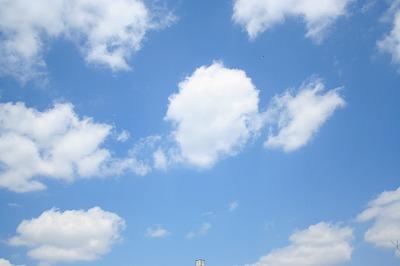 今日は空が綺麗でした!
