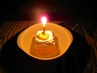 初めての誕生ケーキ。