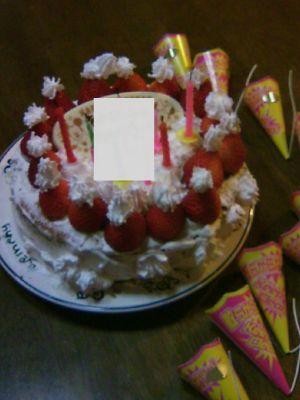 ママの誕生日ケーキをつくりました