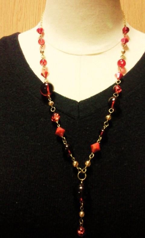 赤玉ネックレス1