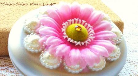 ピンクのお花のガーリーミラー#9829;
