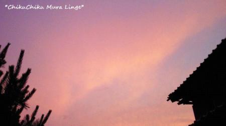 ピンク色に染まった空2#9829;