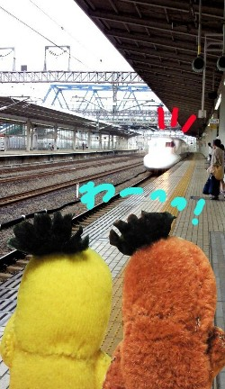 新幹線ホーム#9829;