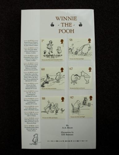 プーさんの切手