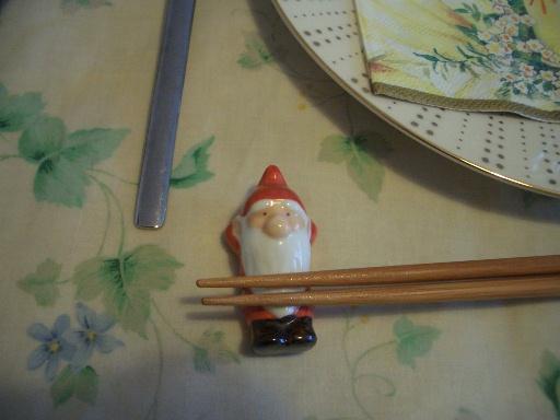 サンタの箸置き