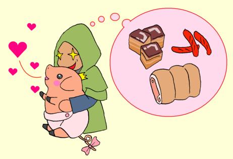 プーギーを抱っこ2