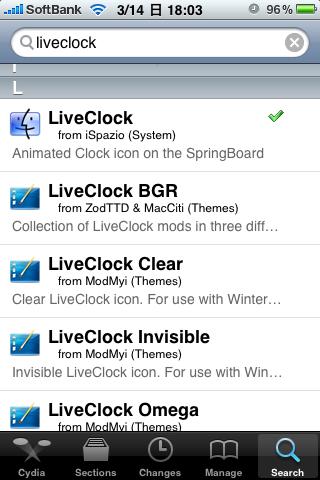 LiveClock検索