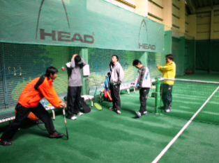 レックインドアテニススクール 実業団練習会