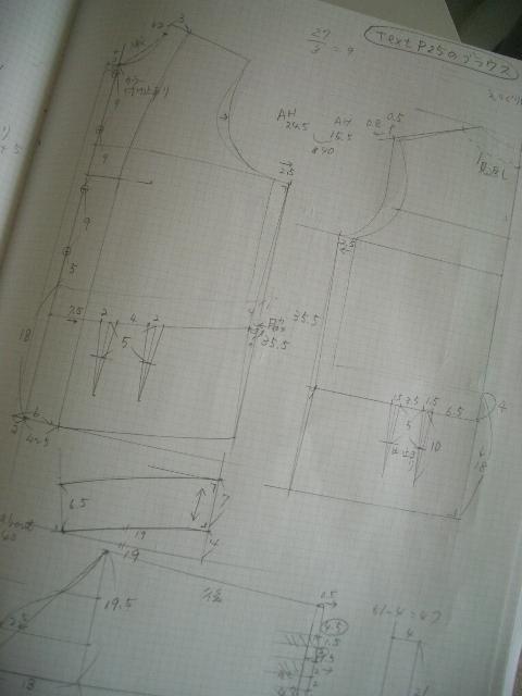 ブラウス製図