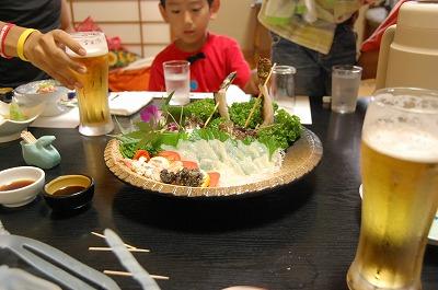 s-喜八荘の夕飯20110820
