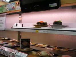 回転寿司の様子