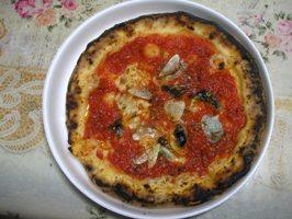 ピザのマリナーラ
