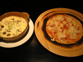 ピザとドリア