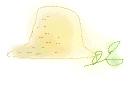 素材麦わら帽子